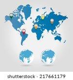world map  vector illustration  | Shutterstock .eps vector #217661179