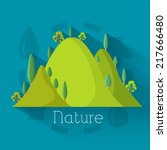 flat eco nature mountains...   Shutterstock .eps vector #217666480