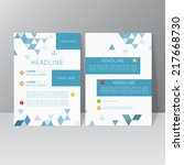 vector brochure template design ... | Shutterstock .eps vector #217668730