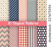 10 elegant vector seamless... | Shutterstock .eps vector #217675354