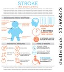 stroke infographic template on... | Shutterstock .eps vector #217698373