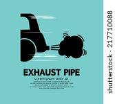 car's exhaust pipe vector... | Shutterstock .eps vector #217710088