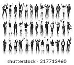 silhouettes of casual people in ... | Shutterstock .eps vector #217713460