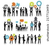 teamwork concept silhouettes of ... | Shutterstock .eps vector #217713493