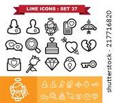 love lne icons set 37... | Shutterstock .eps vector #217716820
