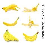 yellow bananas isolated on... | Shutterstock . vector #217720018