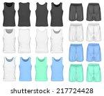 men's sport shorts and singlet  ... | Shutterstock .eps vector #217724428