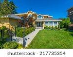 big custom made luxury house... | Shutterstock . vector #217735354