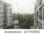 Drops Of Rain On A Window Pane...