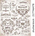 vector. set of calligraphic... | Shutterstock .eps vector #217746478