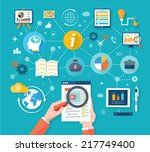 web site analytics charts on... | Shutterstock .eps vector #217749400