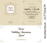 wedding invitation card | Shutterstock .eps vector #217752679