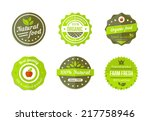 vector natural organic badges... | Shutterstock .eps vector #217758946