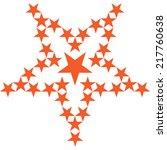 star group. orange | Shutterstock .eps vector #217760638