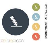 pen or pencil writing on a sheet | Shutterstock .eps vector #217762660