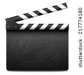 clapper board | Shutterstock .eps vector #217774180