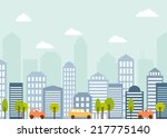 vector card with modern city... | Shutterstock .eps vector #217775140