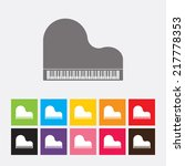piano icon   vector | Shutterstock .eps vector #217778353