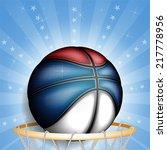 serbian basket ball  vector    Shutterstock .eps vector #217778956