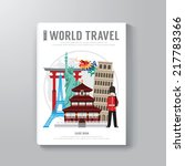 world travel business book... | Shutterstock .eps vector #217783366