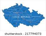 czech republic map | Shutterstock .eps vector #217794073