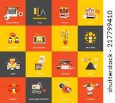 set of flat design concept... | Shutterstock .eps vector #217799410
