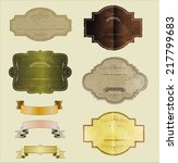 set of vintage labels | Shutterstock . vector #217799683