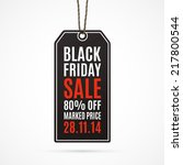 black friday sale realistic... | Shutterstock .eps vector #217800544
