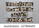 vintage letterpress printing... | Shutterstock .eps vector #217806694
