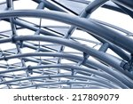 steel frame of the factory roof ... | Shutterstock . vector #217809079