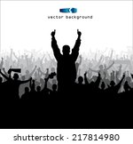 poster for sports concerts and... | Shutterstock .eps vector #217814980