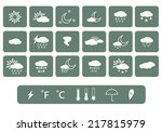 weather icon. vector | Shutterstock .eps vector #217815979