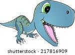 happy dinosaur t rex vector... | Shutterstock .eps vector #217816909