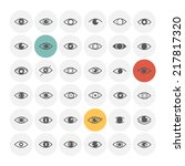 Eye Icons. Vector Illustration.