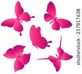 butterflies design   Shutterstock .eps vector #217817638