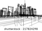 abstract cityscape sketch | Shutterstock .eps vector #217824298