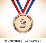 bronze medal | Shutterstock .eps vector #217824994