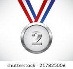 silver medal | Shutterstock .eps vector #217825006