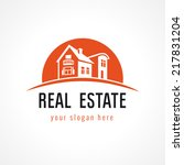 real estate vector logo. house... | Shutterstock .eps vector #217831204