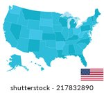 high quality united states map... | Shutterstock .eps vector #217832890