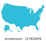 high quality united states map... | Shutterstock .eps vector #217832896