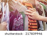 close up of a hand  looking on... | Shutterstock . vector #217839946