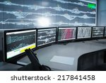 modern electronic control room  ... | Shutterstock . vector #217841458