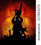 slayer chainsaw 3 | Shutterstock . vector #217843273