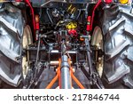tractor engine rear view   oil... | Shutterstock . vector #217846744
