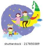 family good night sleep | Shutterstock .eps vector #217850389