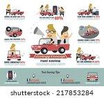 fuel saving infographics | Shutterstock .eps vector #217853284