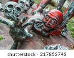 the devil sculpture in the mock ... | Shutterstock . vector #217853743