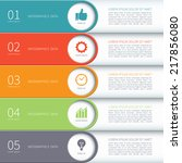modern minimal colorful arrow... | Shutterstock .eps vector #217856080