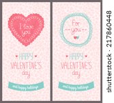 valentines day card with love....   Shutterstock .eps vector #217860448